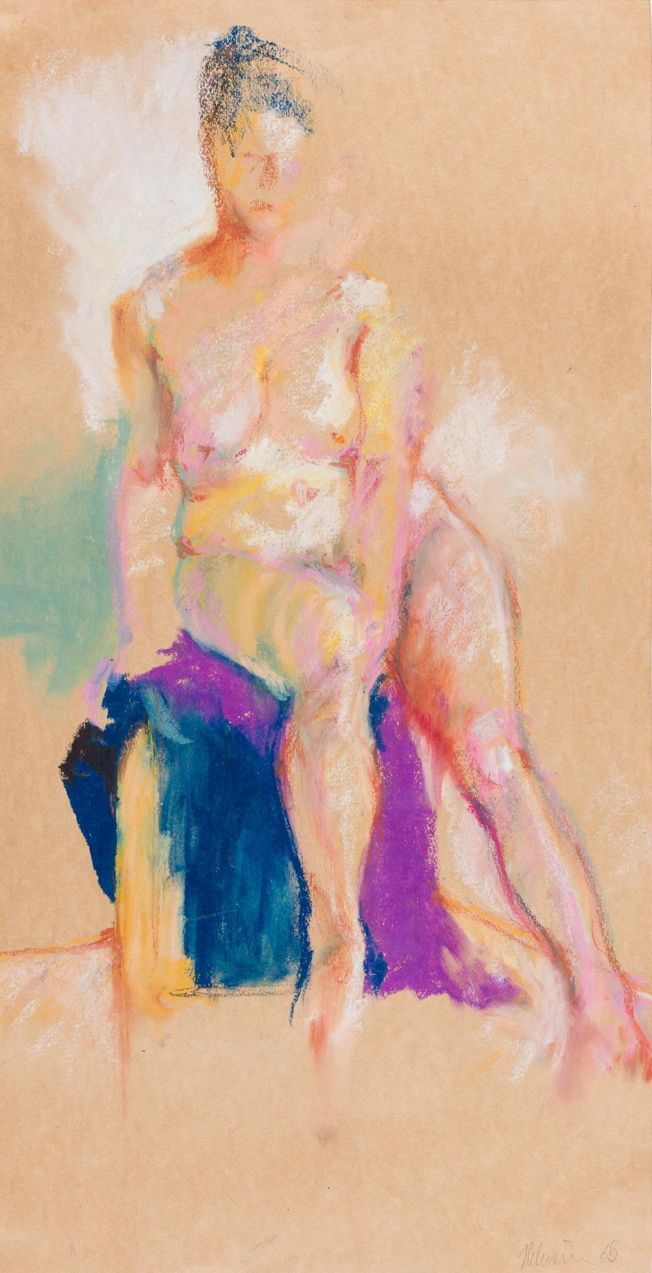 Gottfried Helnwein, Sitzender weiblicher Akt