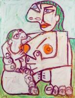 Otto Mühl, Mutter mit Kind (nach Picasso)