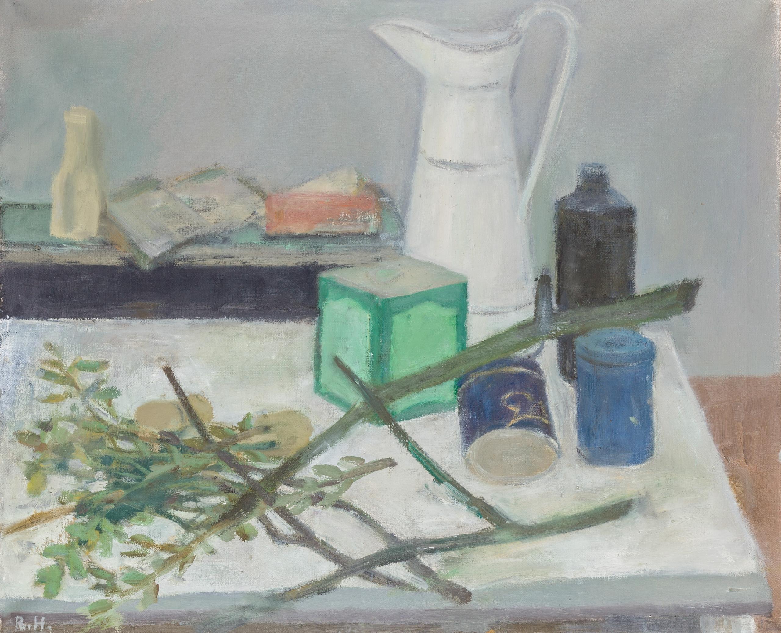 Rudolf Hradil, Stilleben mit Krug