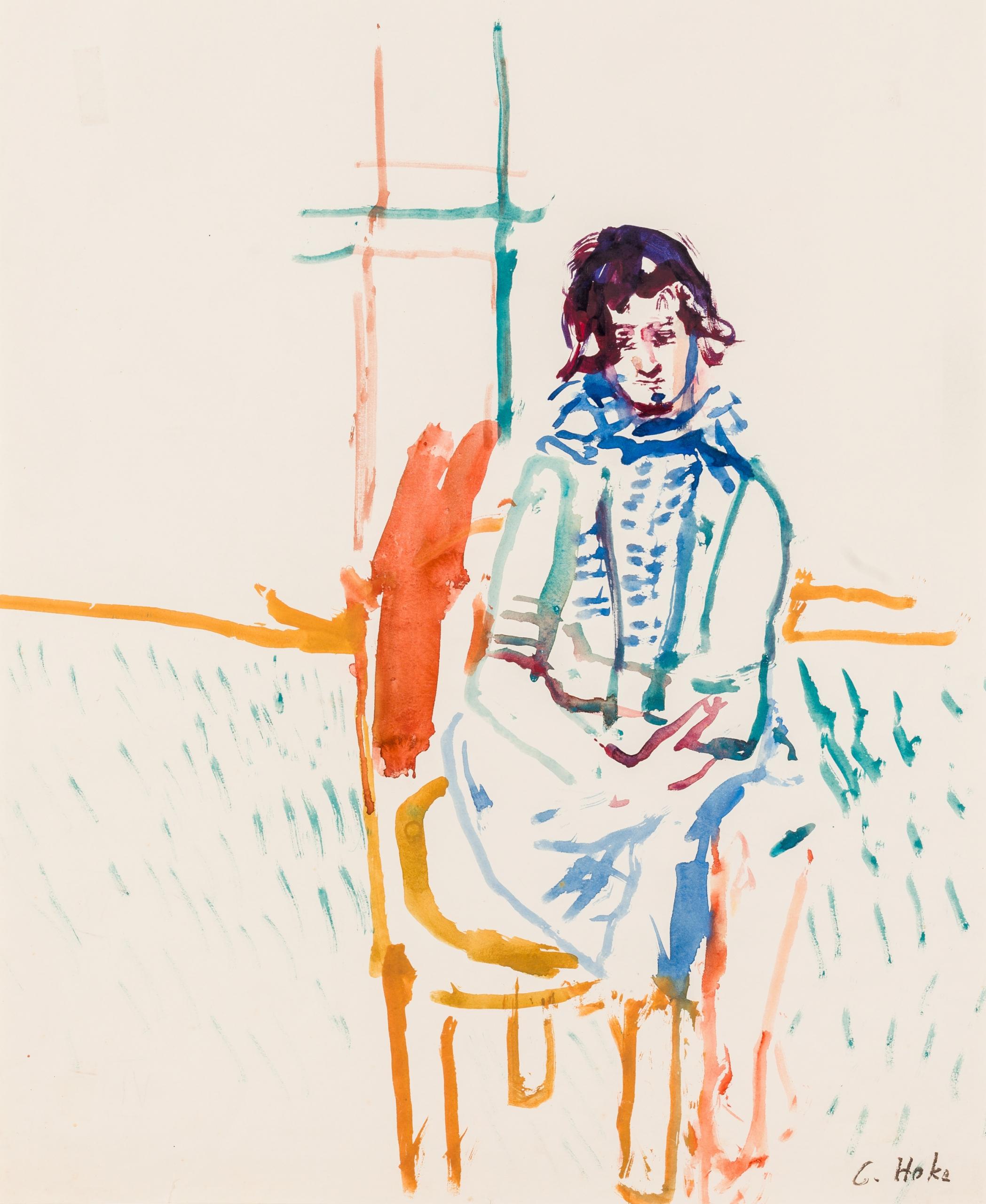 Giselbert Hoke, Sitzendes Mädchen