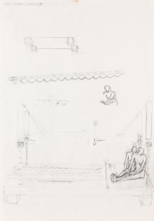 Bruno Gironcoli, Schulterkuss, Schulterbiss (Skizze)