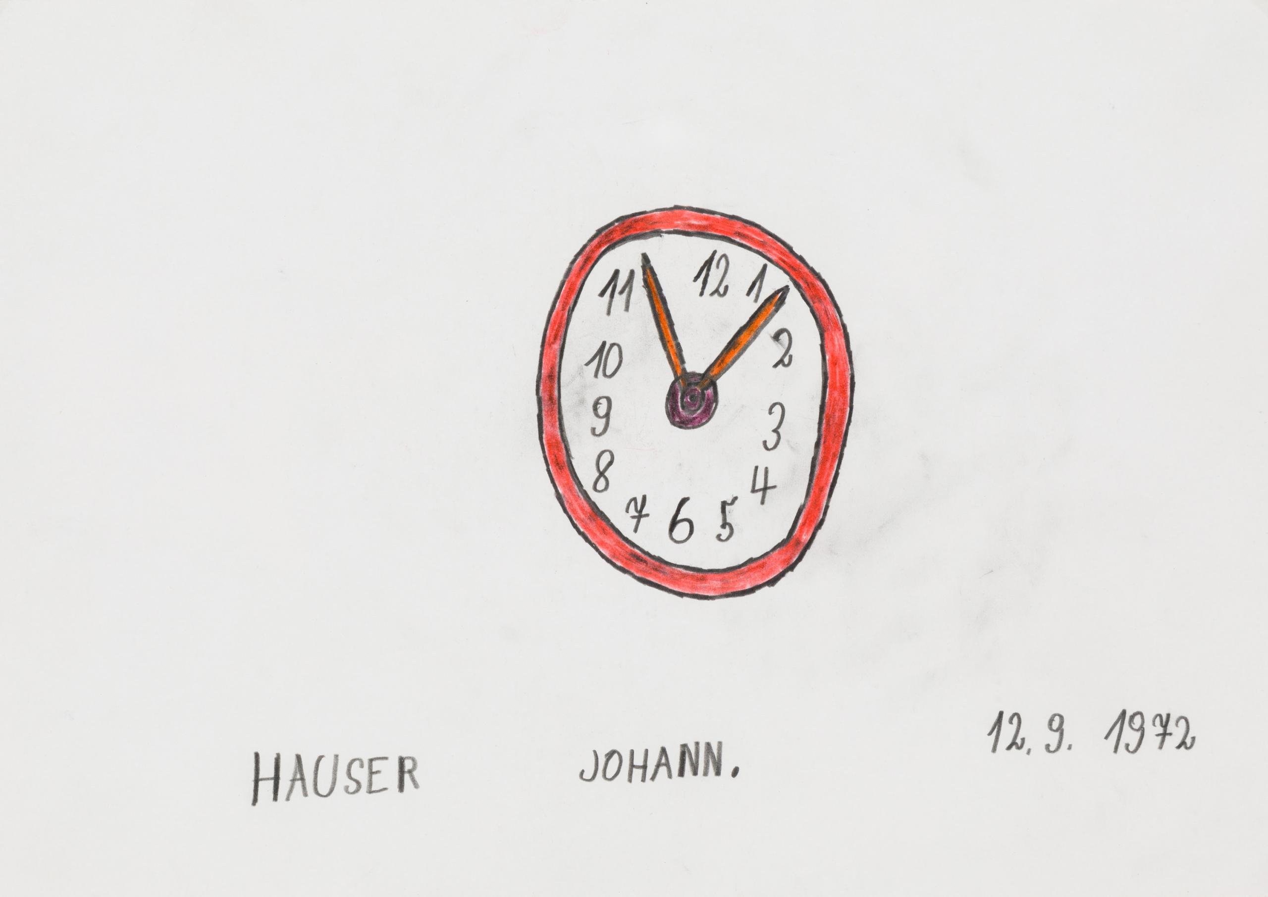 Johann Hauser, Uhr