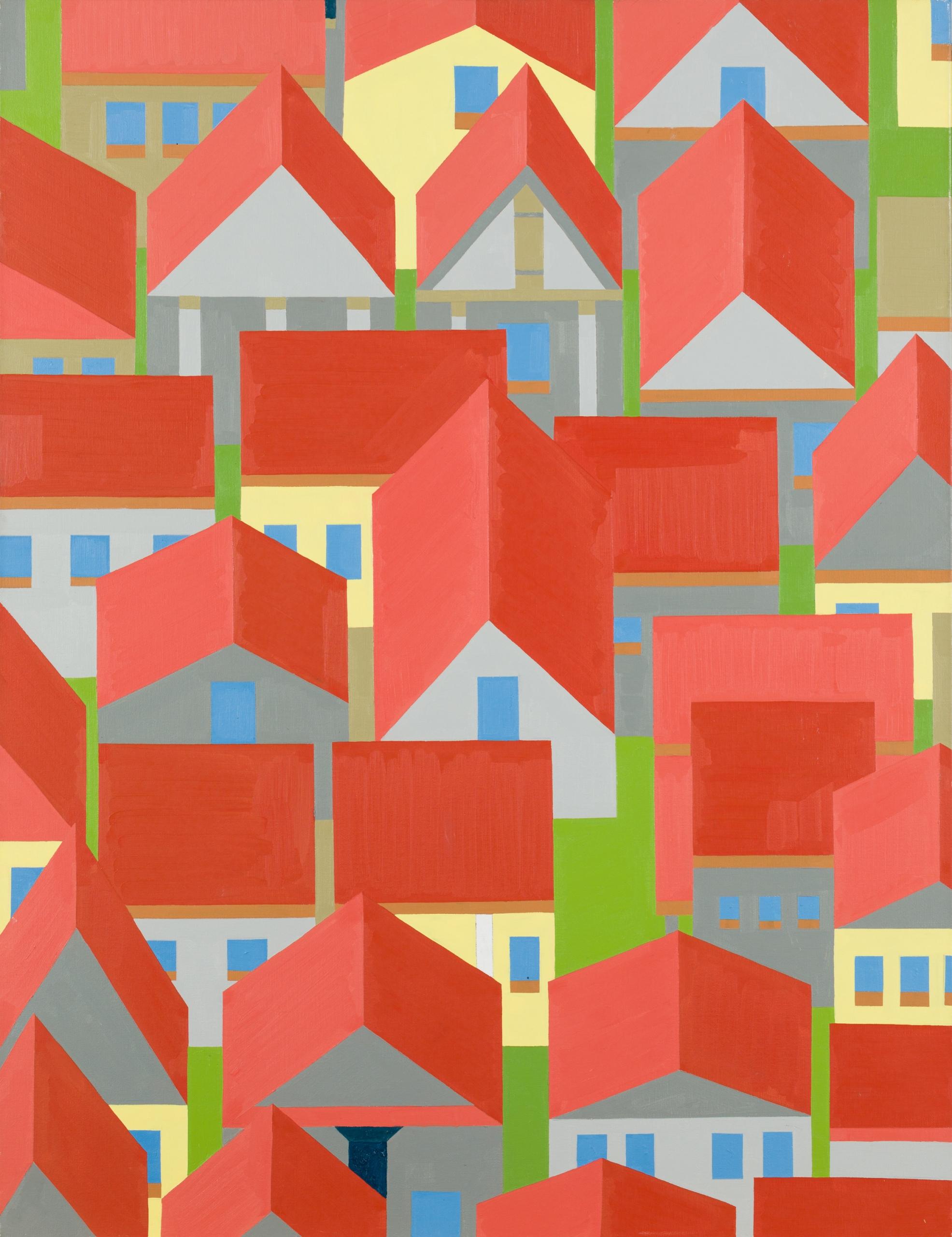 Hubert Schmalix, Ohne Titel (Häuserbild)