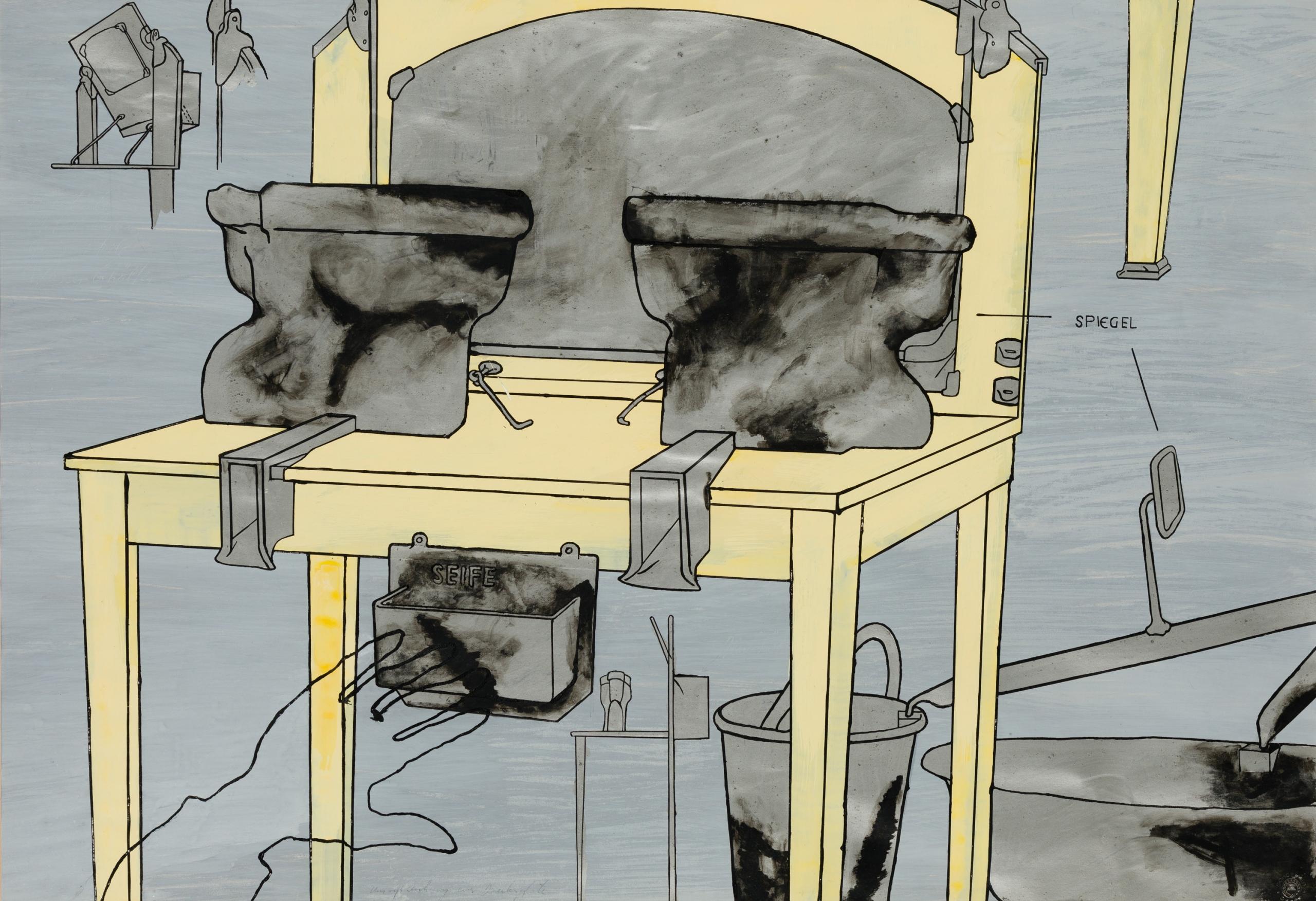 Bruno Gironcoli, Umrissskizze einer Druckmaschine