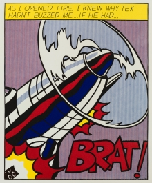 Roy Lichtenstein, As I opened Fire (Triptychon)
