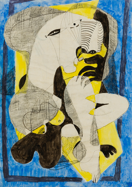 Oswald Oberhuber, Ohne Titel (Picasso Studie)