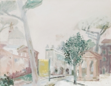 Rudolf Hradil, Piazzale Flaminia