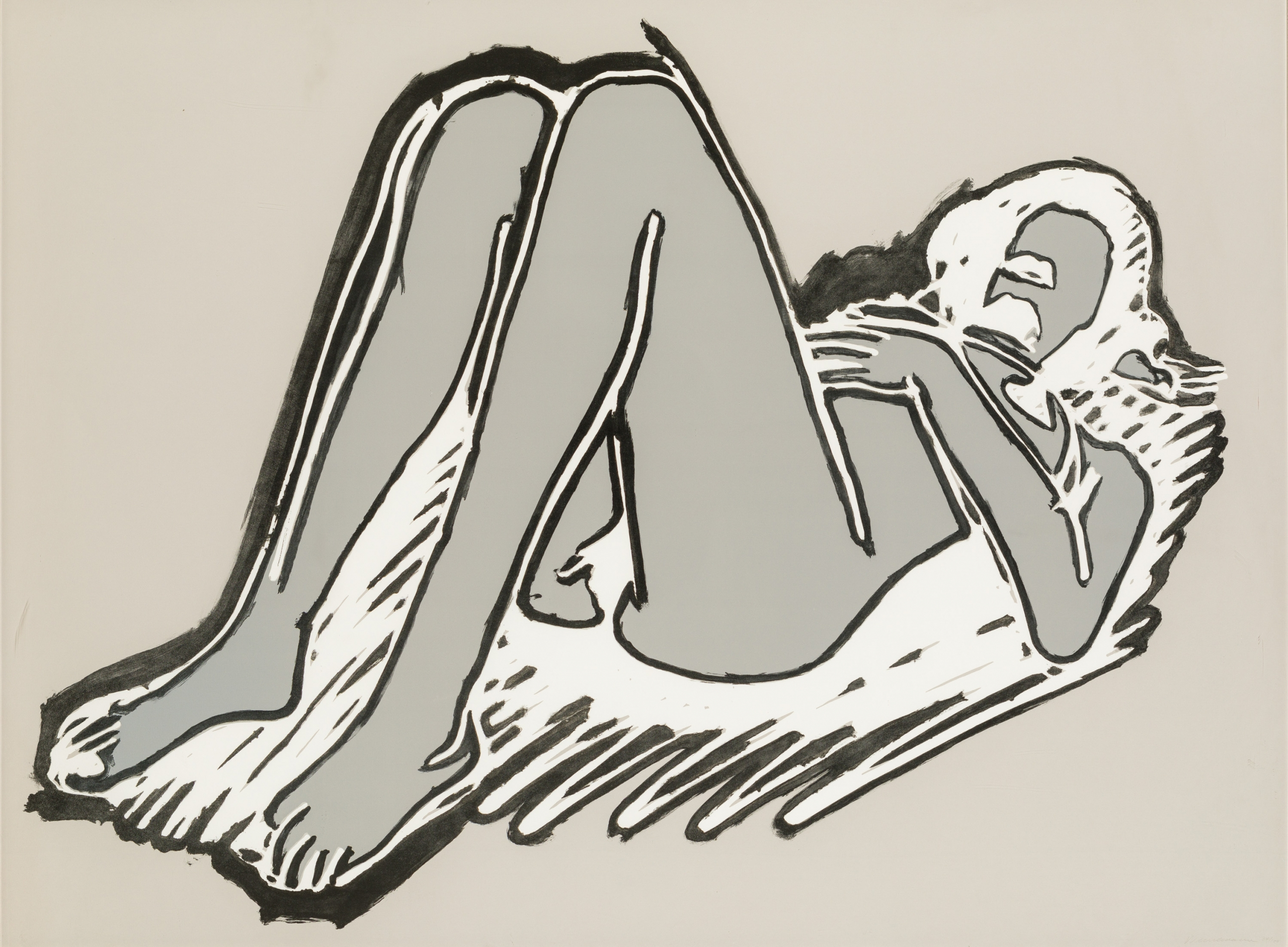 Tom Wesselmann, Monica reclining on her back, knees up