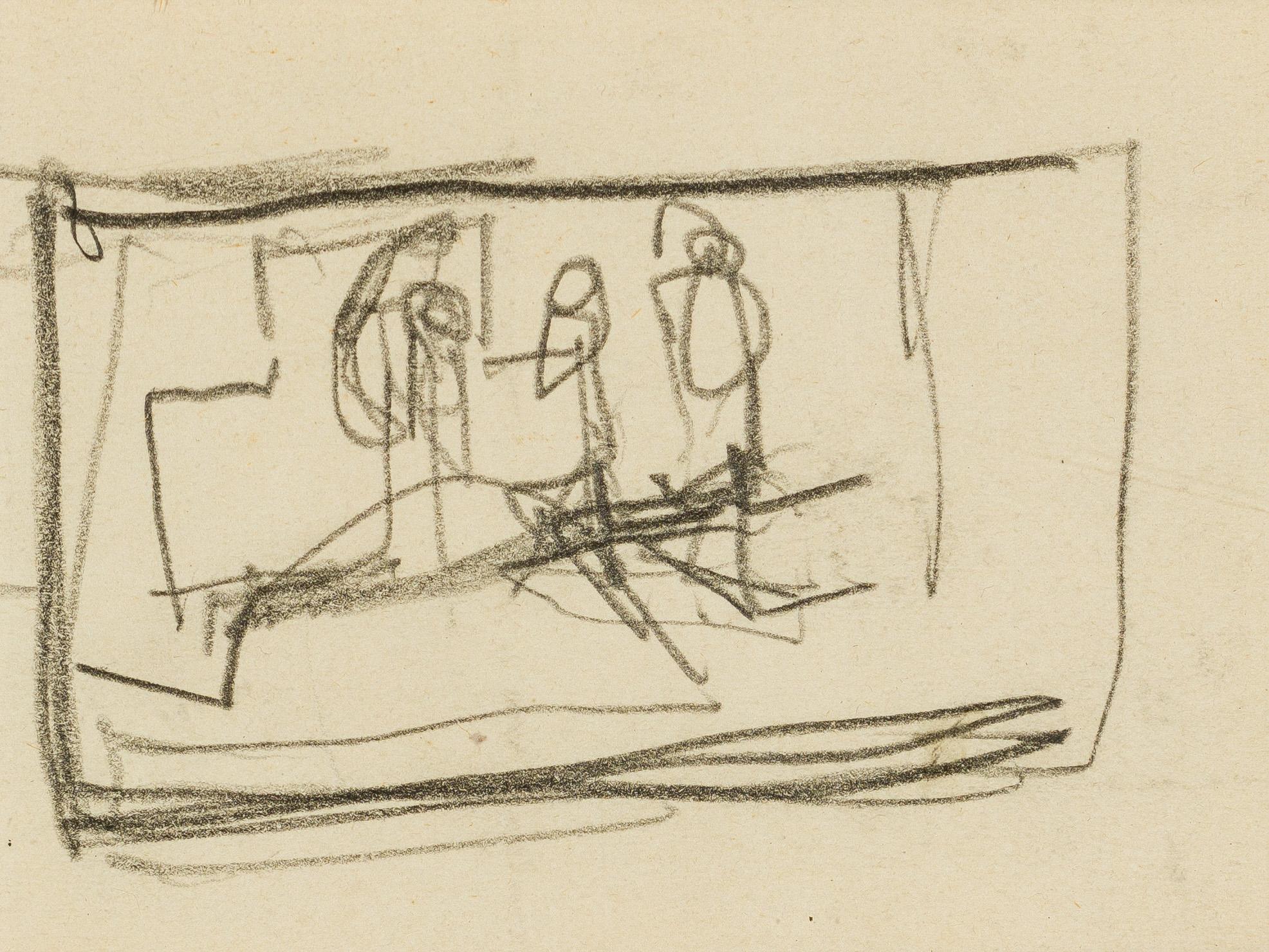 Egon Schiele, Ohne Titel (Figurenskizze)
