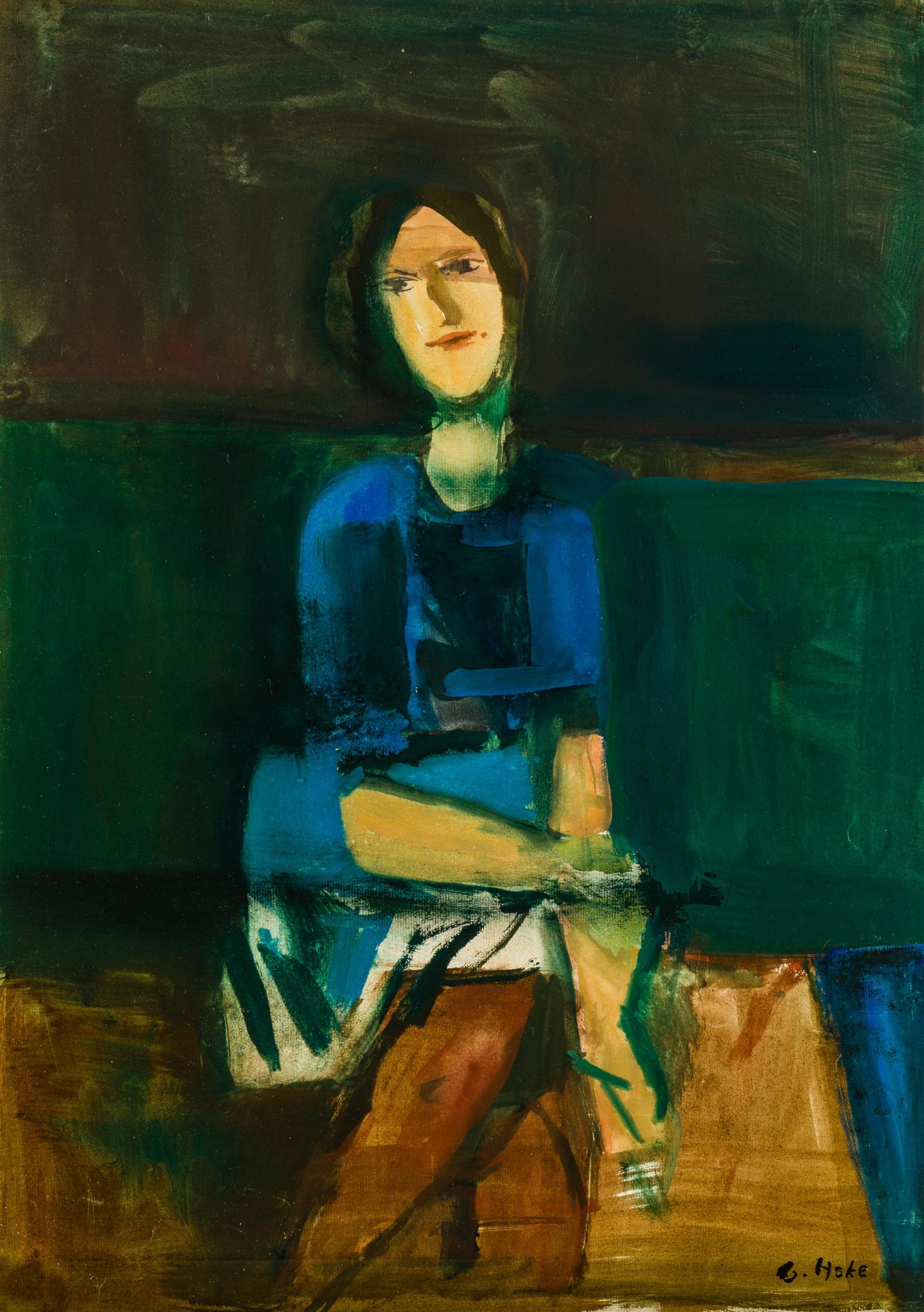 Giselbert Hoke, Sitzende Frau