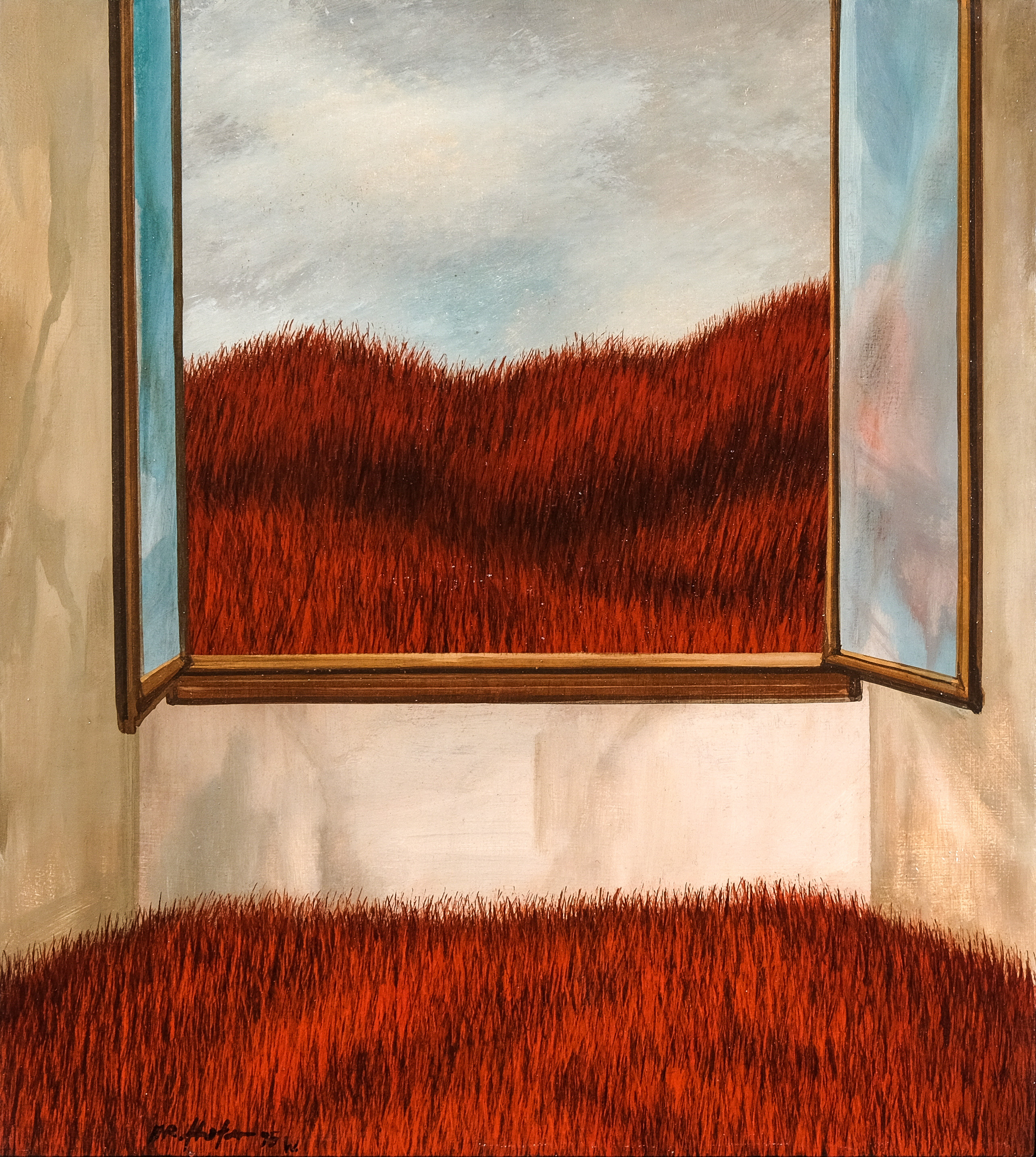 A. R. Hofer, Landschaft mit Fenster