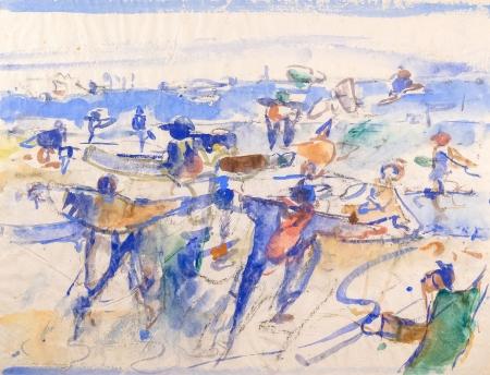 Ernst Gradischnig, Am See