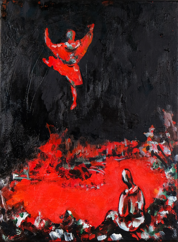 Roman Scheidl, Tänzer am Feuer