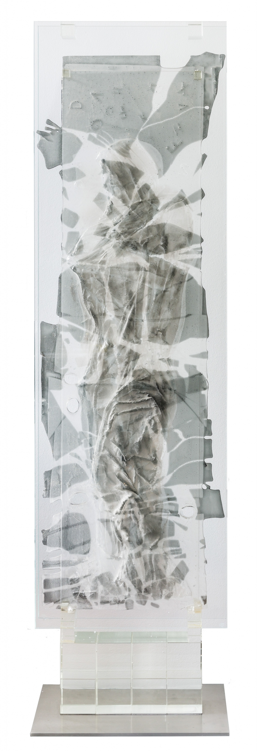 Valentin Oman, Ohne Titel (Glasstele) / untitled (glass stele)