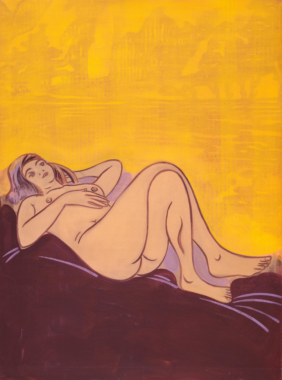 Hubert Schmalix, Ohne Titel (Weiblicher liegender Akt) / untitled (nude study)