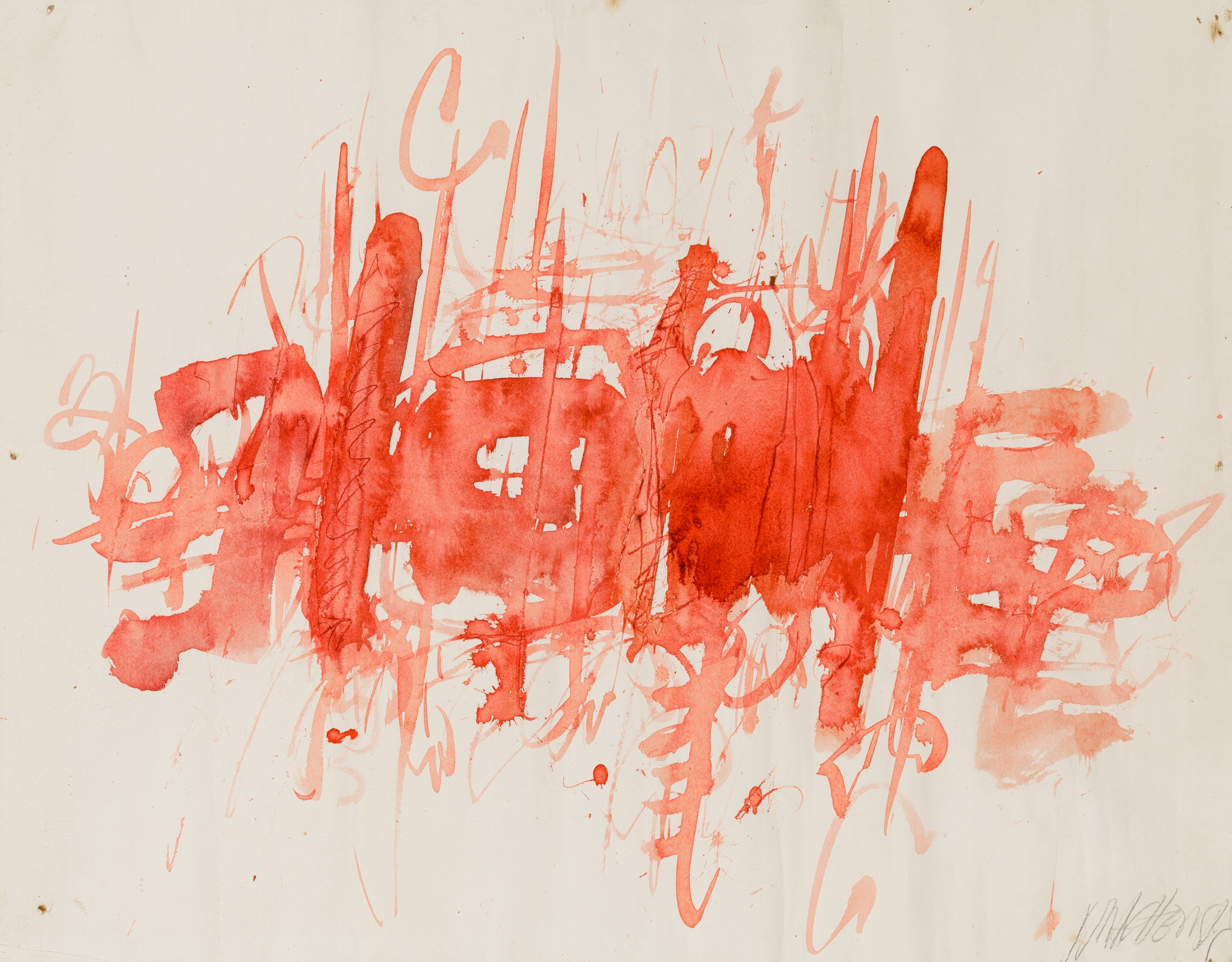 Markus Prachensky, Ohne Titel  (aus der Serie: Rouge sur blanc, 1960) / untitled (serie: Rouge sur blanc, 1960)