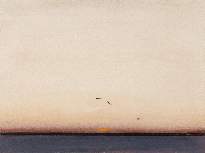 Eduard Angeli, Möwen über der Lagune