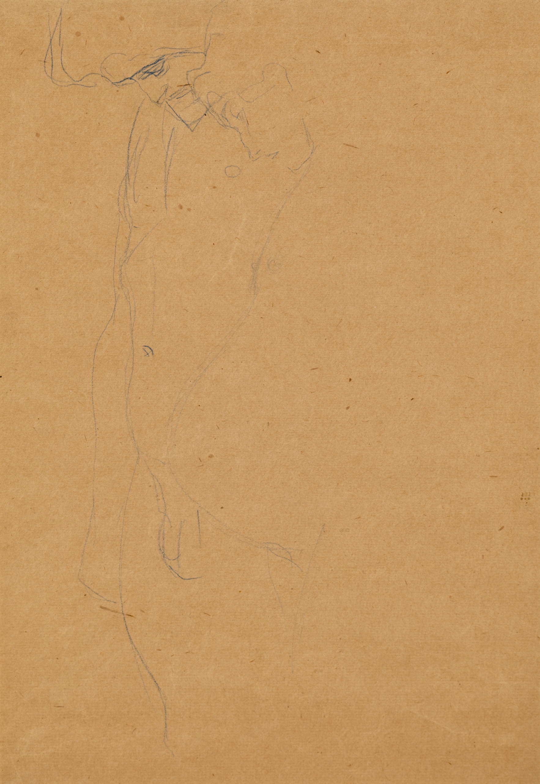 Gustav Klimt, Schwangere mit Mann  (im Umriss angedeutetet