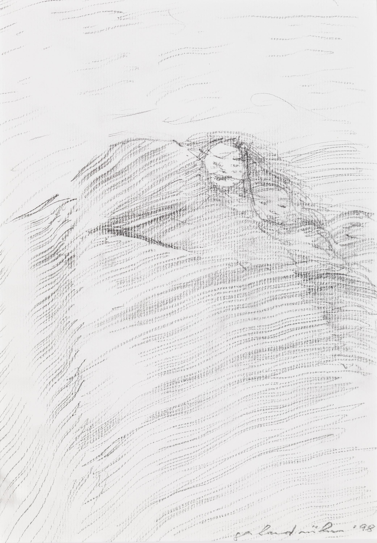 Gerhard Rühm, Skripturale Meditation, Ohne Titel, Pelz oder Perücke?