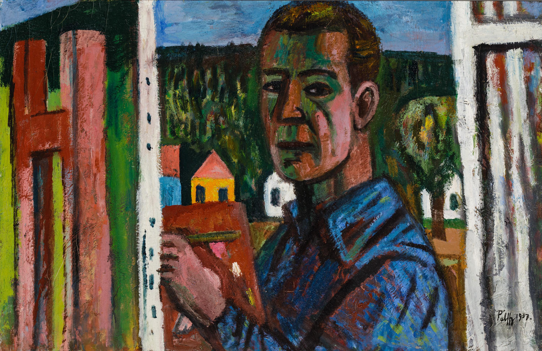 Peter Palffy, Selbstporträt vor Staffelei