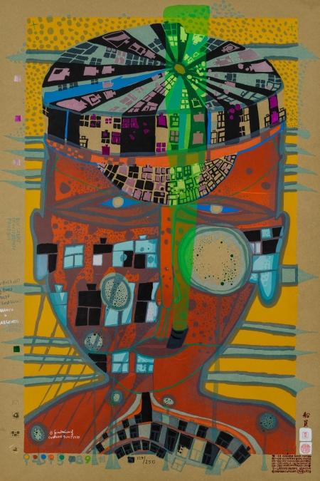 Friedensreich Hundertwasser, ONE OF FIVE SEAMEN IL MARINAIO