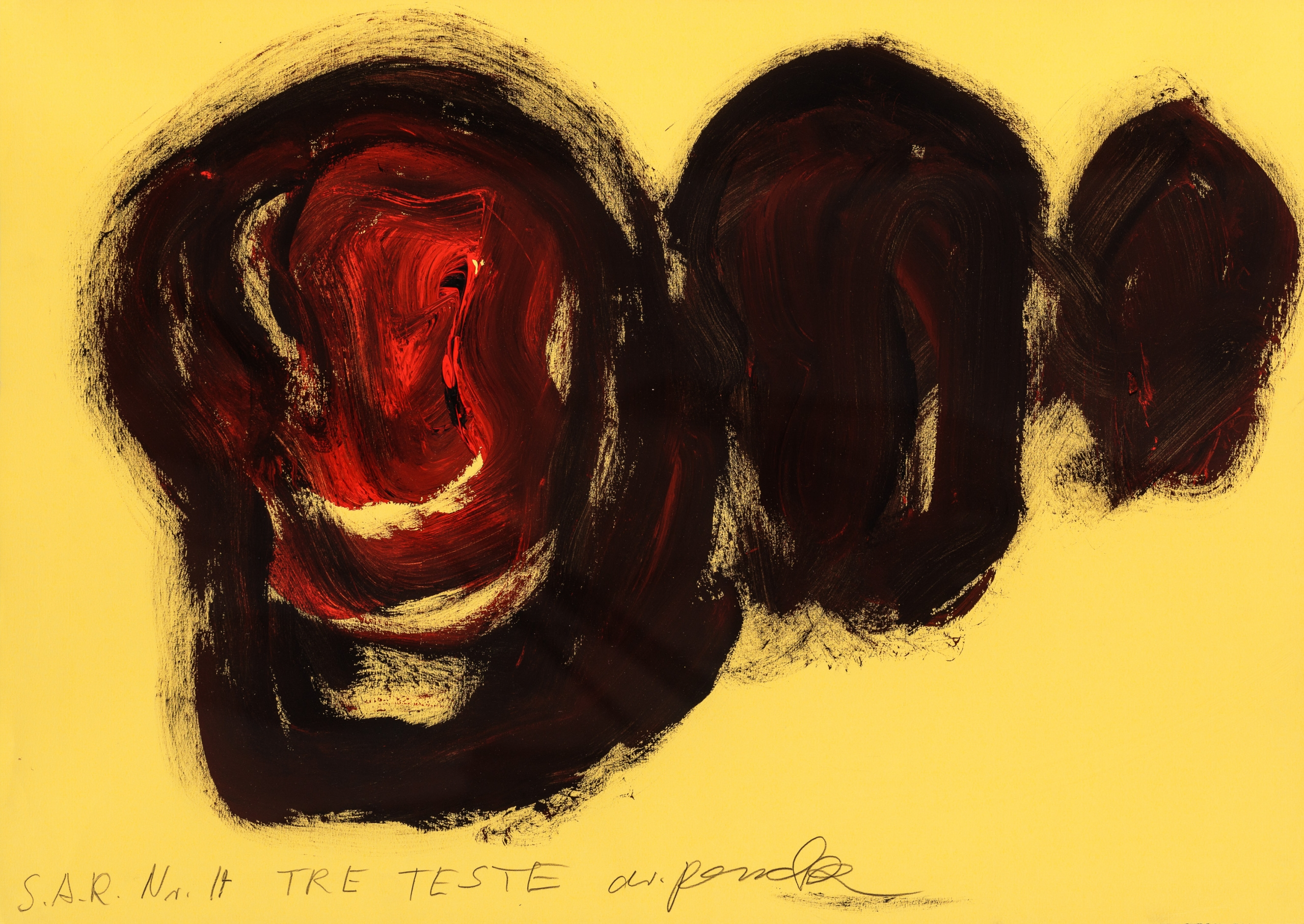 A. R. Penck, TRE TESTE (S.A.R. Nr. 17)