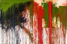 Hermann Nitsch, Ohne Titel (Schüttbild mit Malhemd)