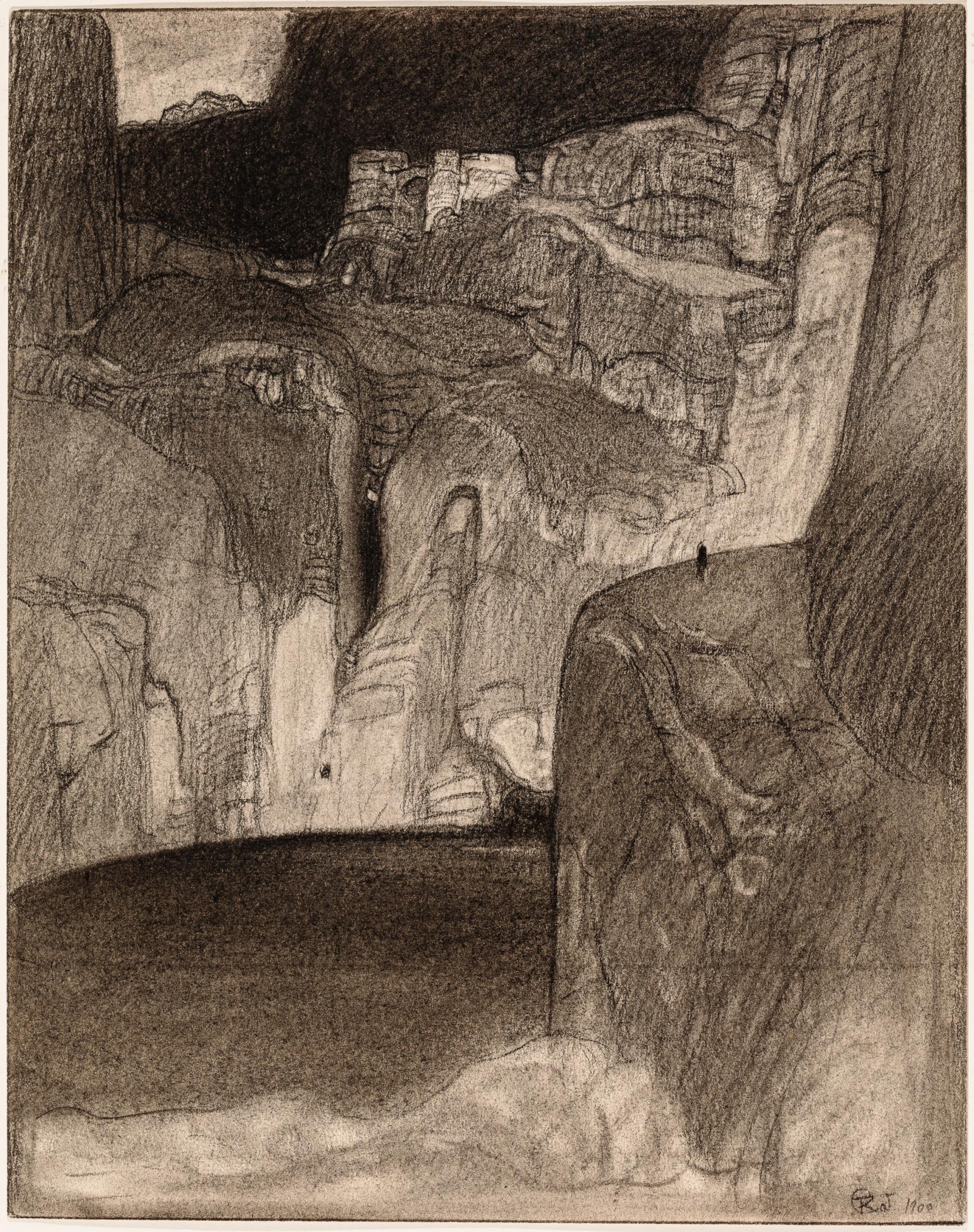 Rudolf Jettmar, Felsenschlucht mit See