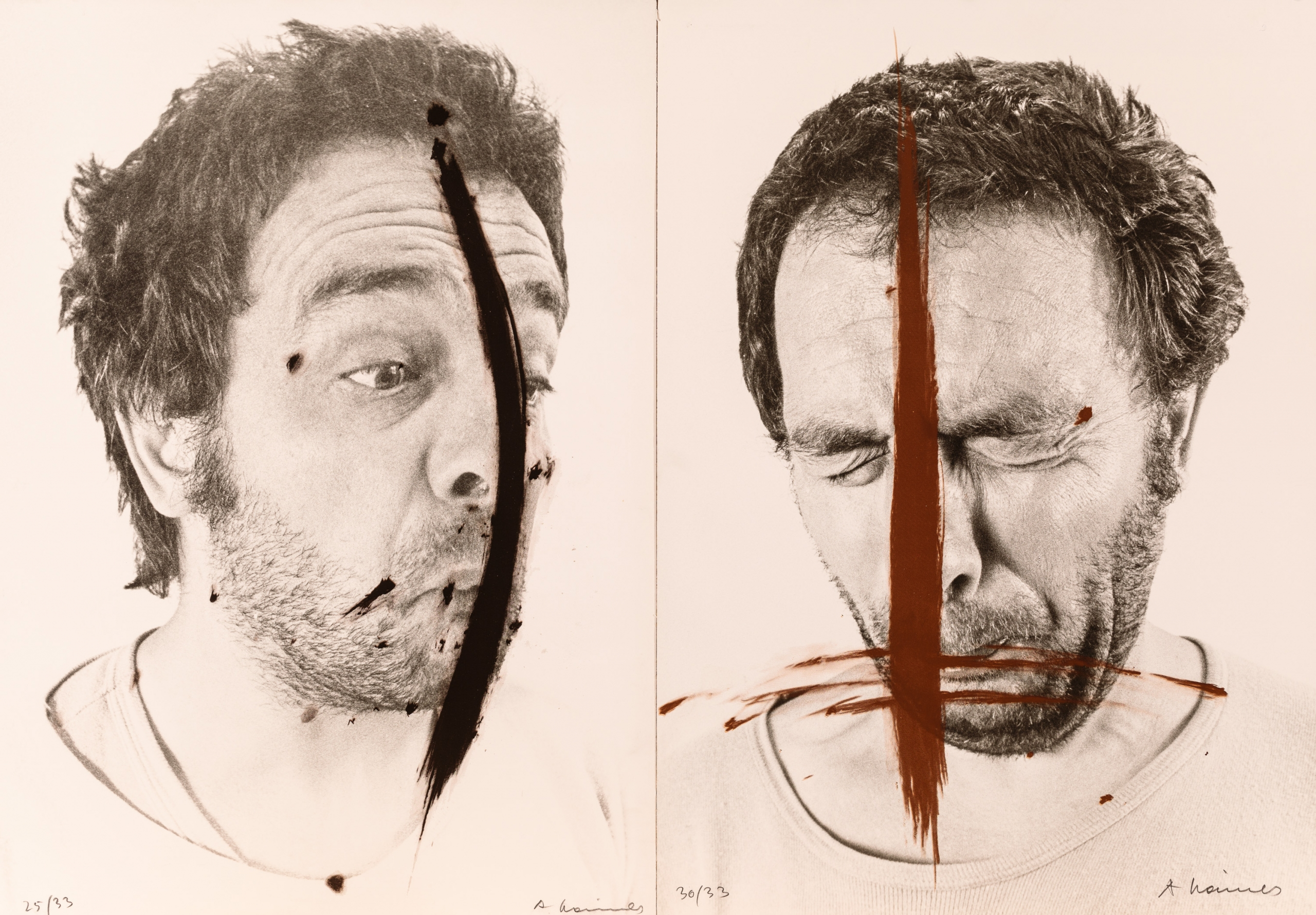 Arnulf Rainer, Selbstporträt (2 Werke / 2 works)