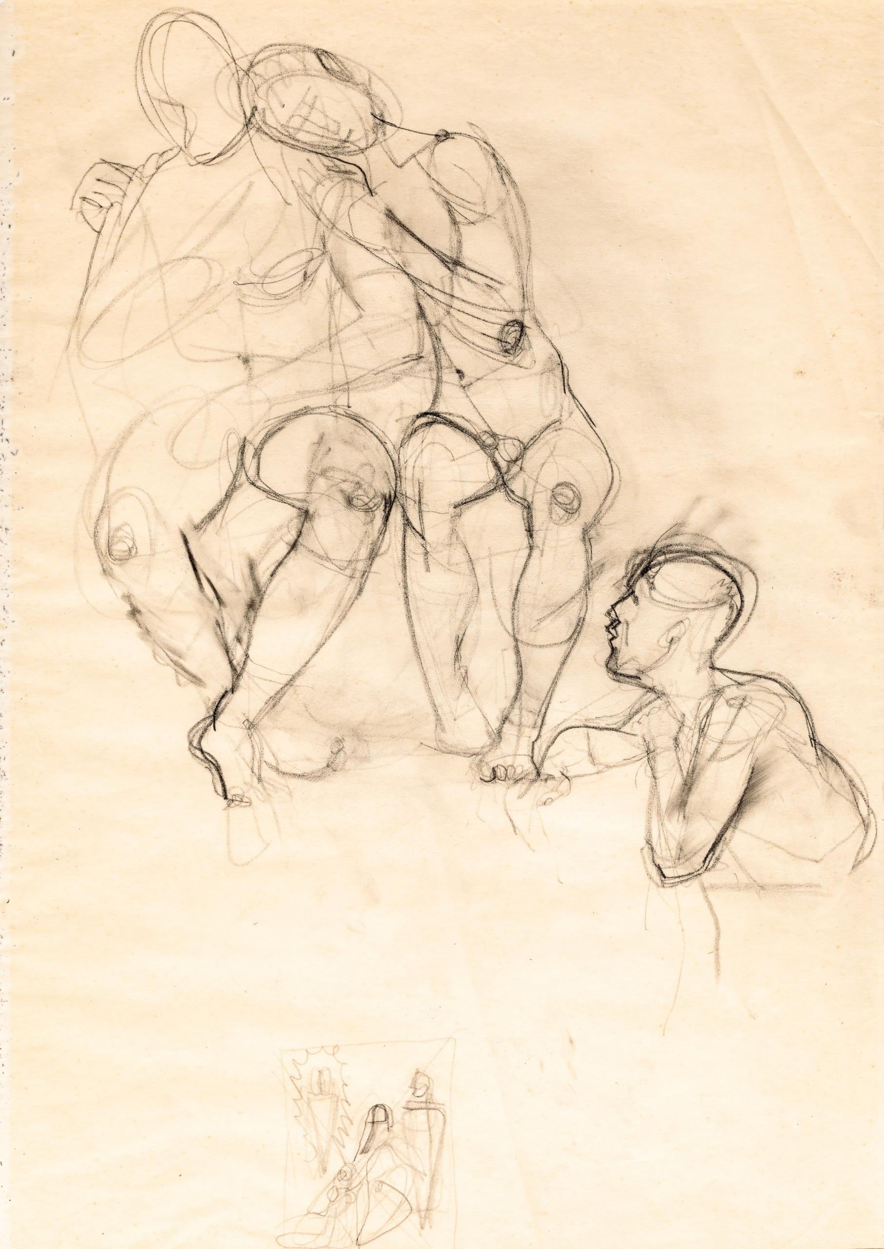 Anton Kolig, Liebespaar und Voyeur