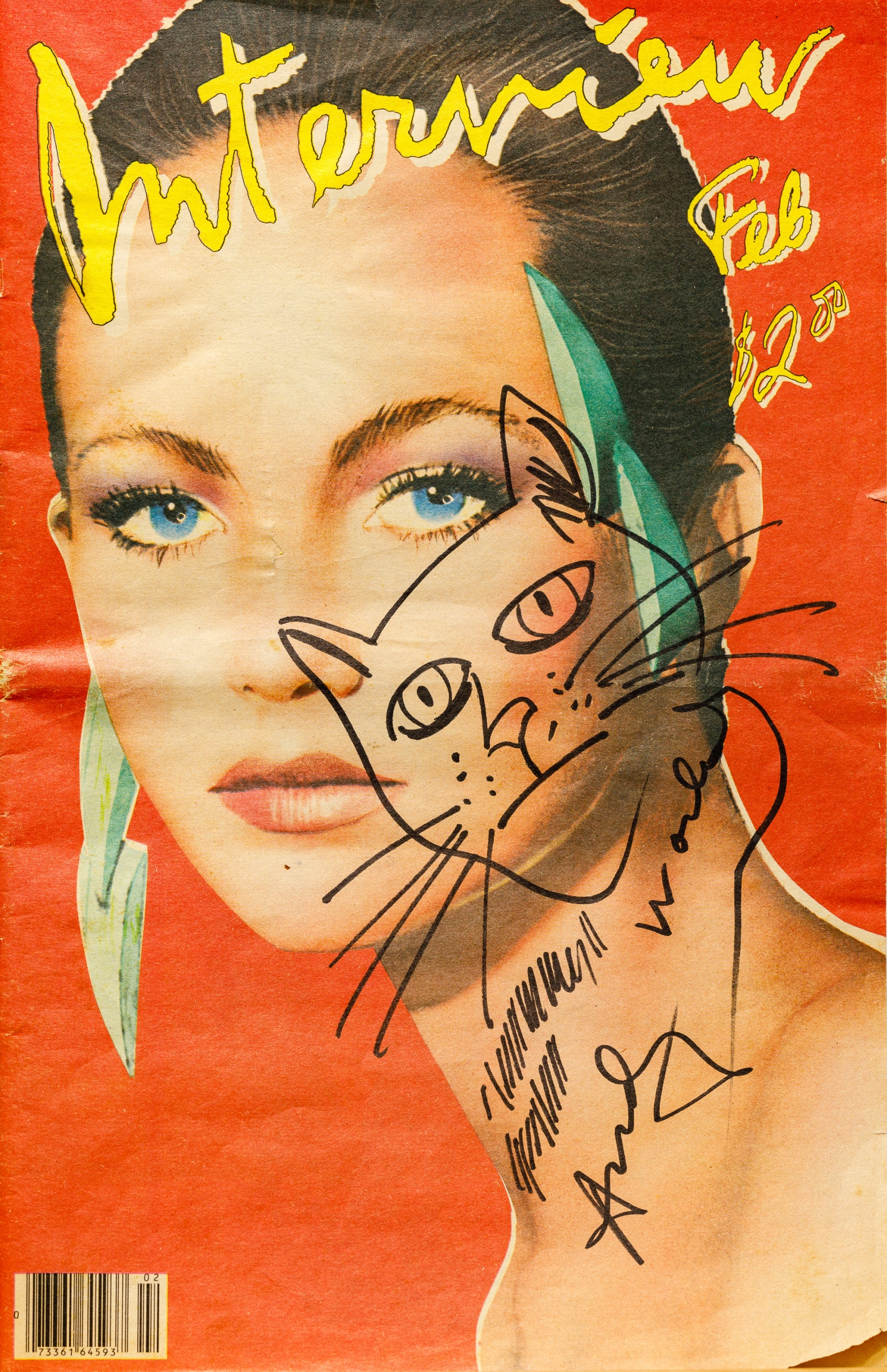 Andy Warhol, Katzenkopf-Skizze