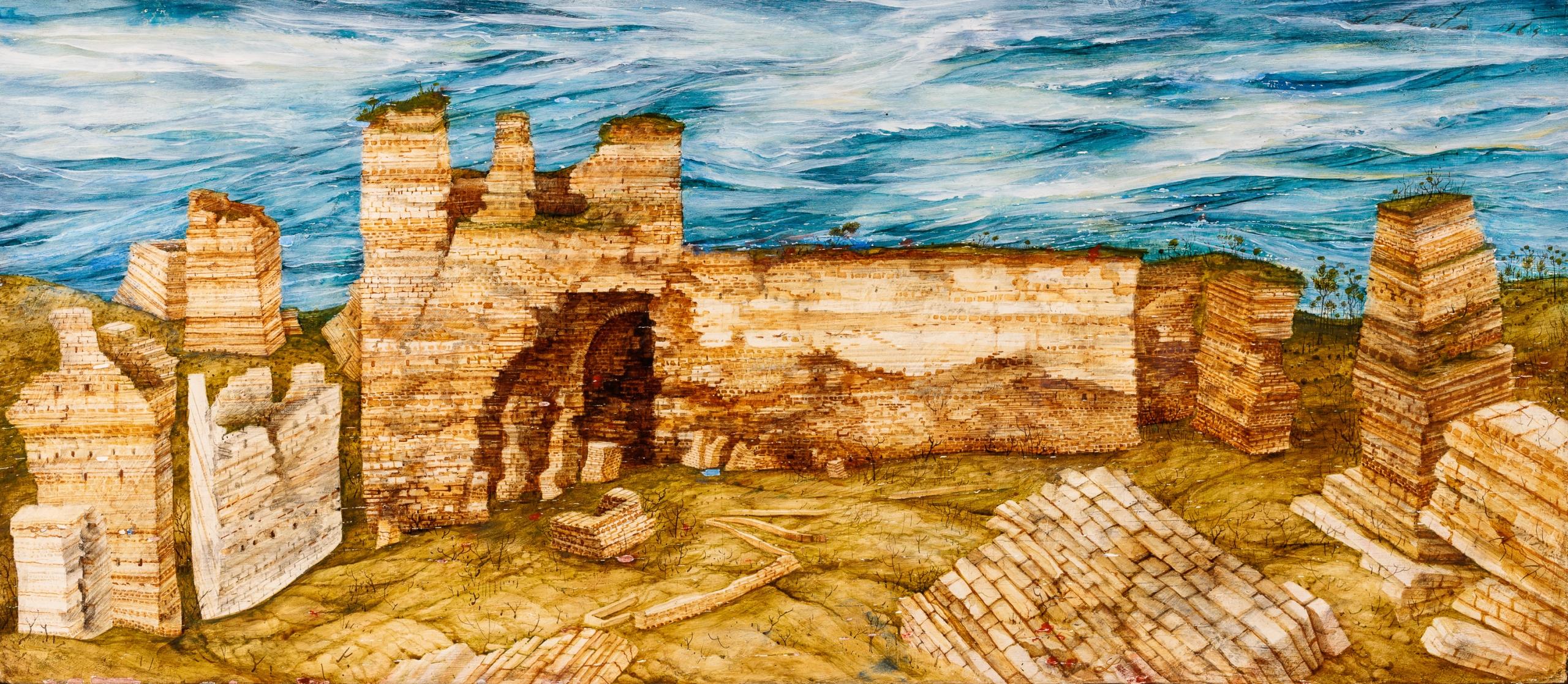 Anton Lehmden, Stadtmauer Istanbul