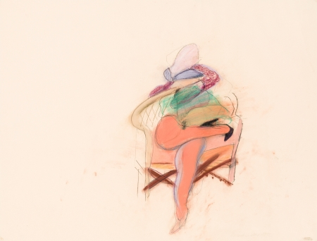 Martha Jungwirth, Ohne Titel (im Fauteuil Sitzende) / untitled (sitting in a fauteuil)