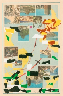 Franz West, Ohne Titel (Reiseprospekt) / untitled (travel brochure)