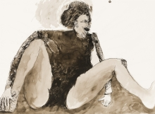 Adolf Frohner, Sitzende Frau