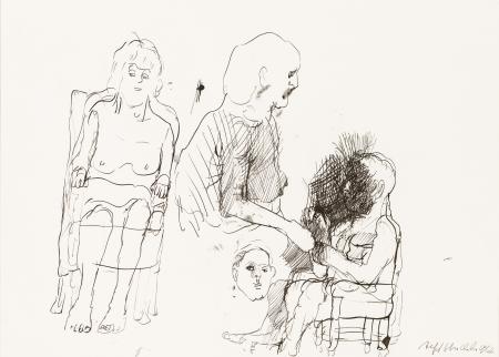 Alfred Hrdlicka, Ohne Titel (Familie) / untitled (family)