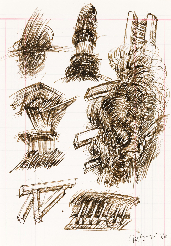 Othmar Zechyr, Ohne Titel (Skizze) / untitled (study)