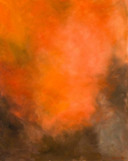 Franz Hametner, Ohne Titel (rote Landschaft) / untitled (red landscape)