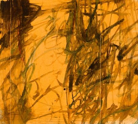 Josef Mikl, Bild auf Orange mit Figuren