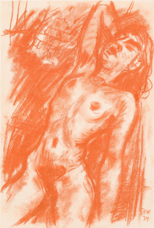 Rudolf Wacker, Stehender weiblicher Akt