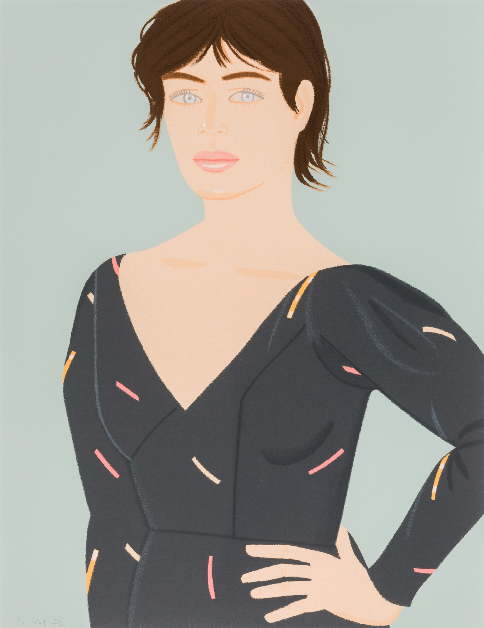 Alex Katz, Gray Dress (Laura)
