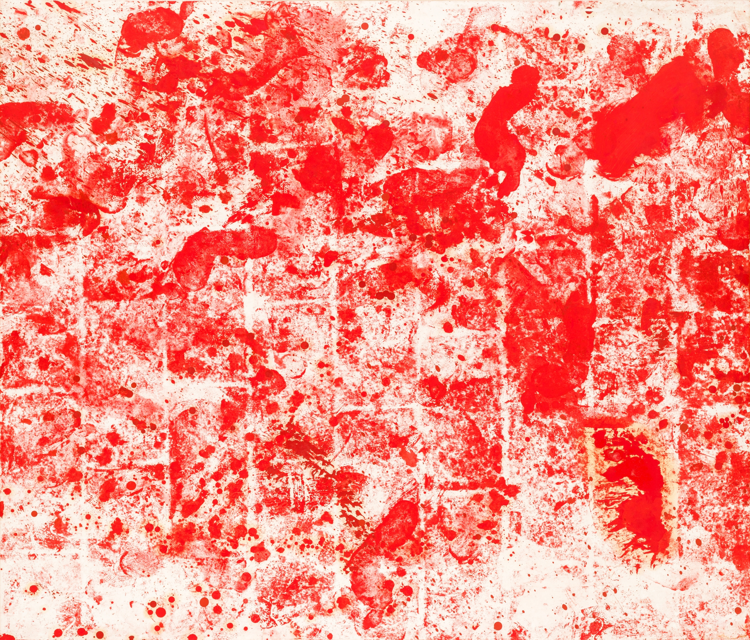 Hermann Nitsch, Ohne Titel (Bodentuch) / untitled (floorcloth)