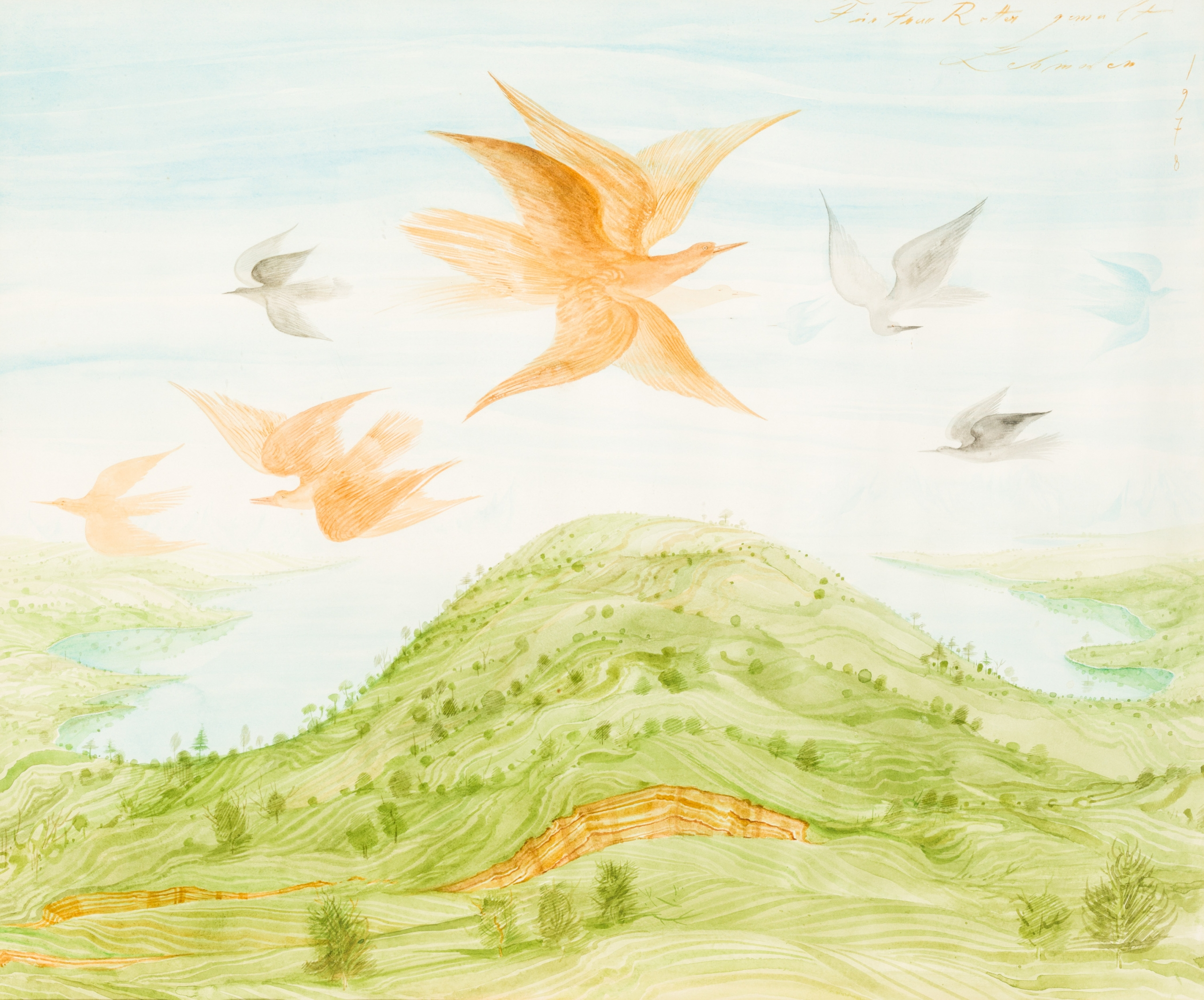 Anton Lehmden, Ohne Titel (Vogelflug) / untitled (flight of birds)