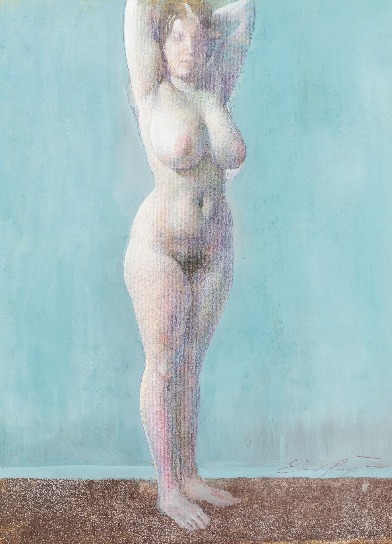 Ernst Fuchs, Stehender weiblicher Akt
