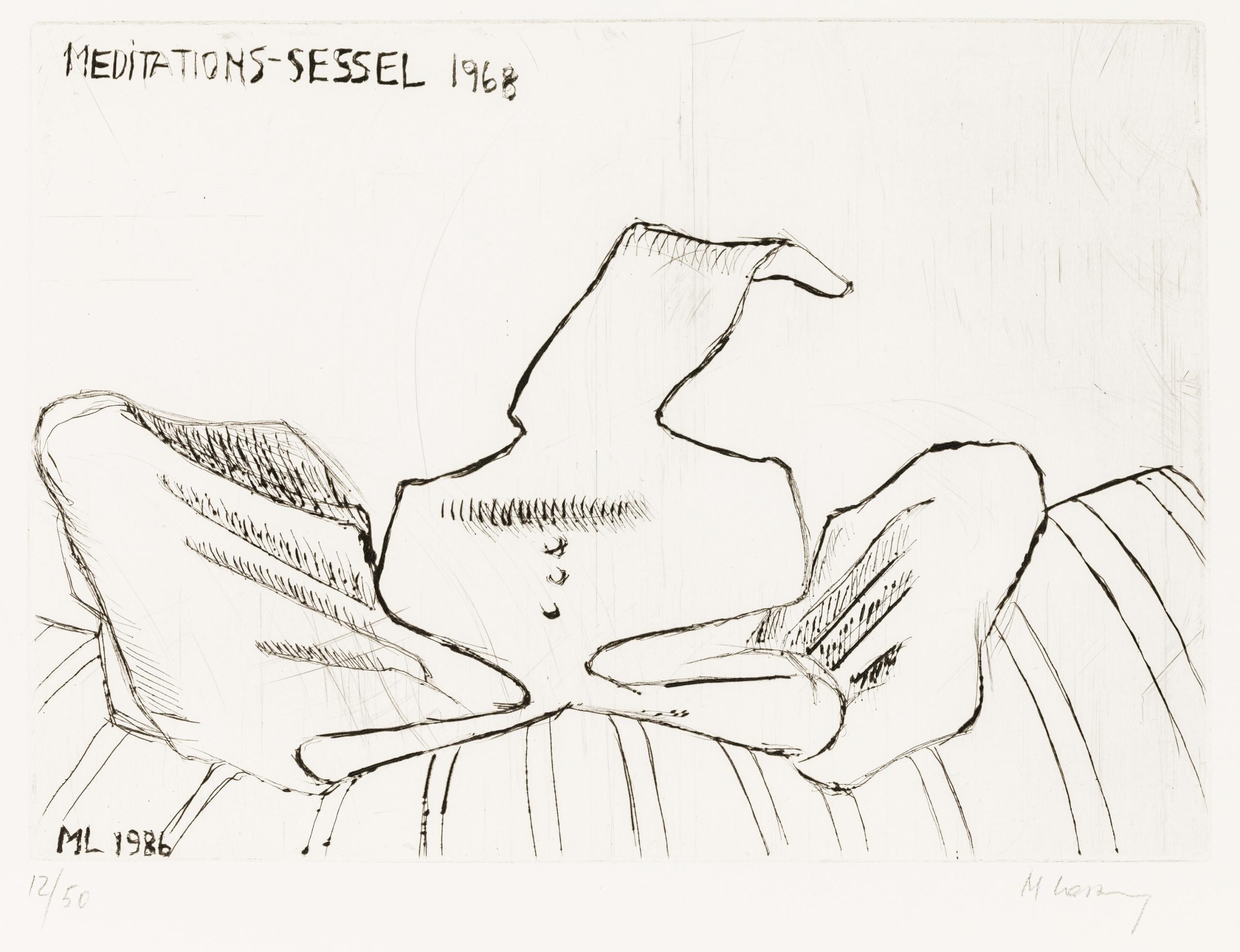 Maria Lassnig, MEDITATIONS-SESSEL 1968
