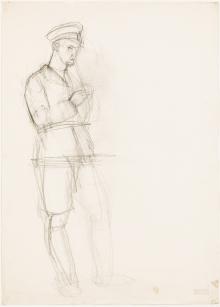 Anton Kolig, Ohne Titel (junger Mann) / untitled (young man)