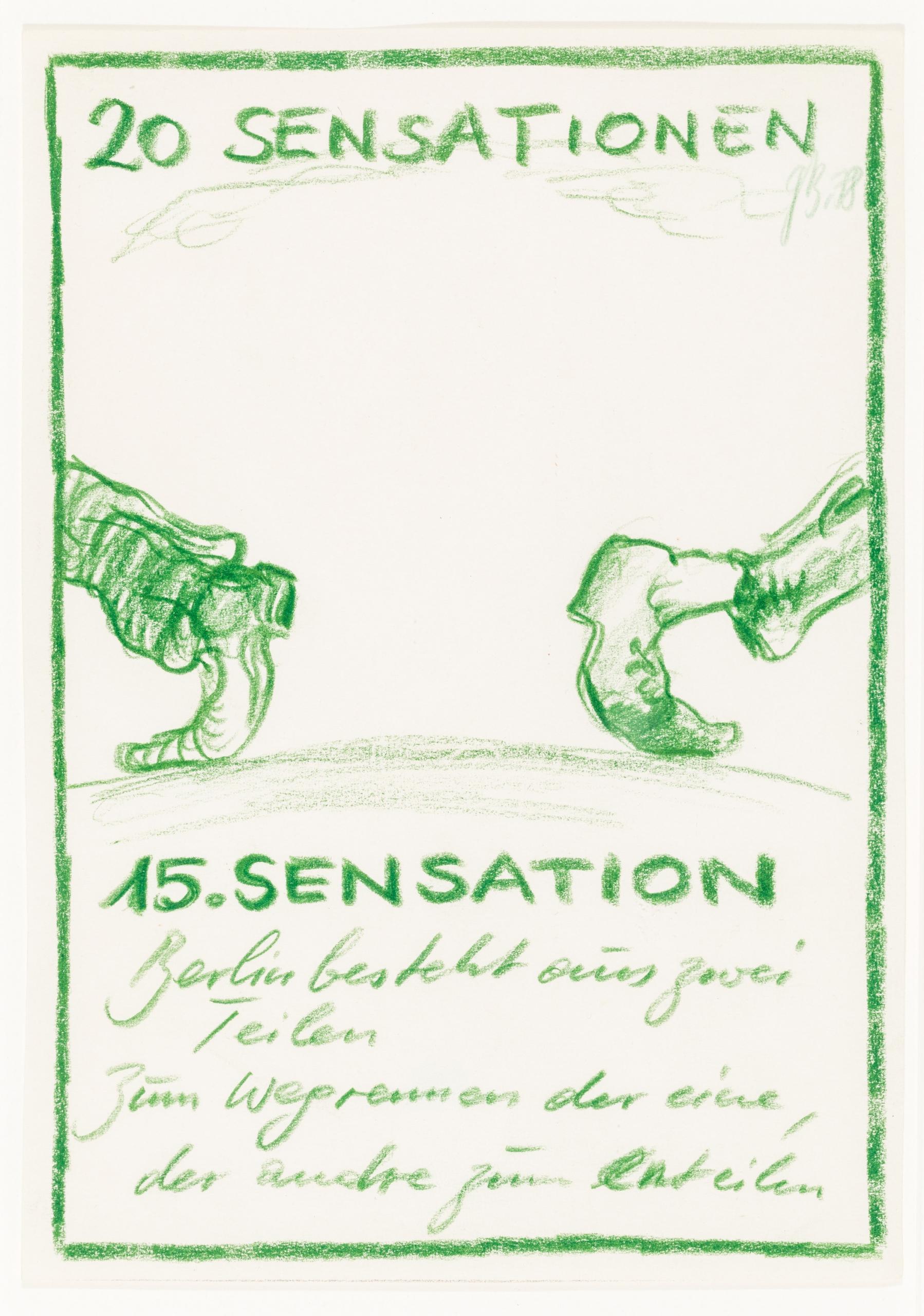 Günter Brus, 15. und 16. Sensation (aus der Serie 20 Sensationen)