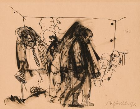 Alfred Hrdlicka, Männergruppe mit Erstochenem