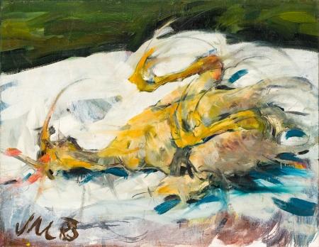 Markus Muntean, Stilleben mit totem Huhn