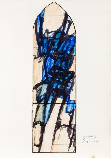 Peter Bischof, Glasfensterentwurf (Margarethen am Moos)